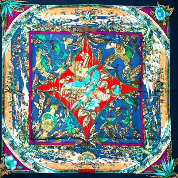 Hermès Tropiques silk scarf Rare to find